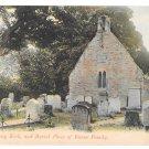 UK Scotland Ayr Alloway Kirk Robert Burns Family Burial Place Vintage Postcard GWW