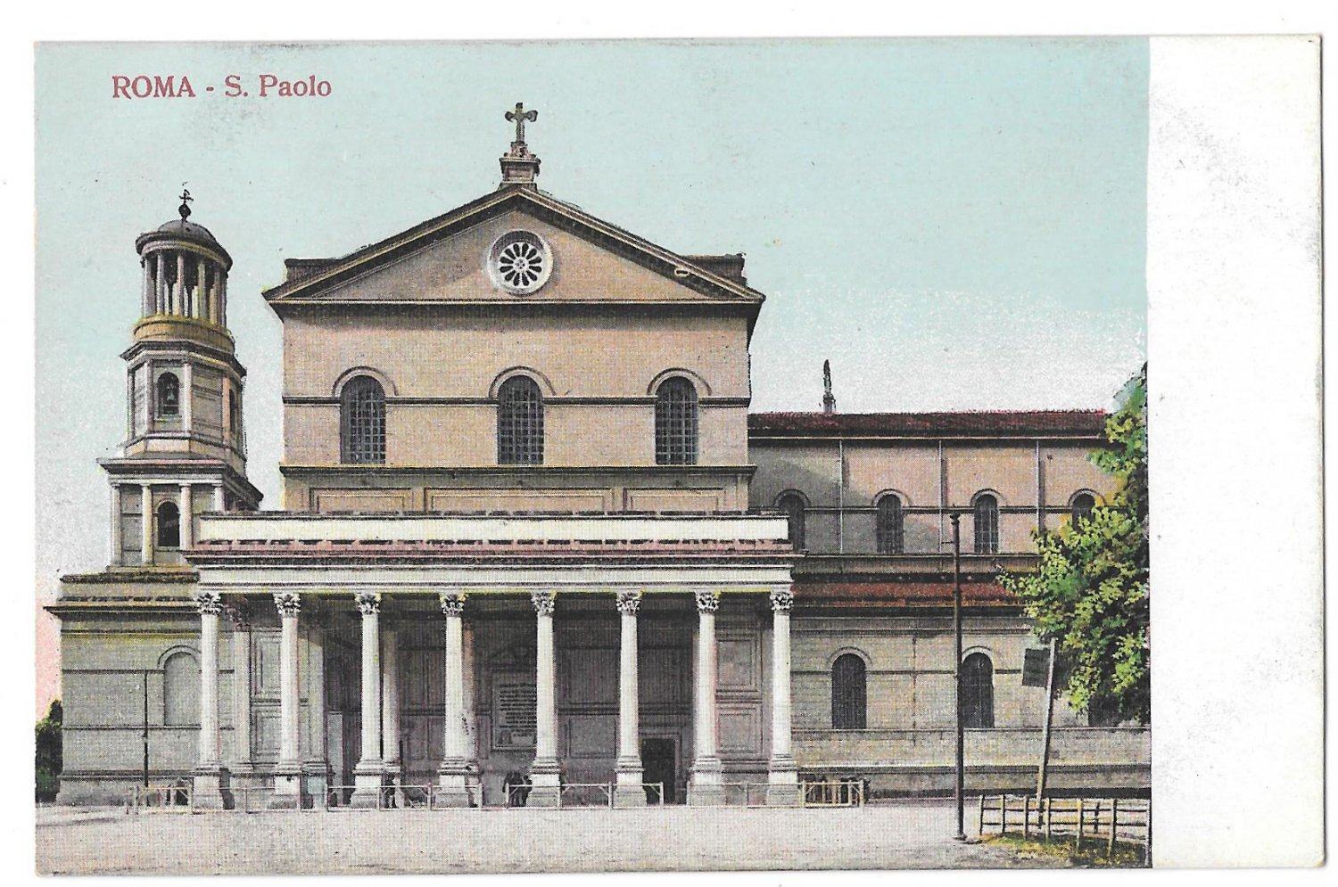Italy Rome Basilica S Paolo St Paul's Cathedral Vintage Roma Postcard