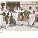 Italy Tarantella Folk Dance Traditional Dress Costume Vintage Postcard
