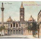 Italy Rome Basilica S Maria Maggiore Marian Church Cathedral Vintage Postcard