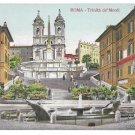 Italy Rome Trinita dei Monti Church Piazza di Spagna Spanish Steps Postcard