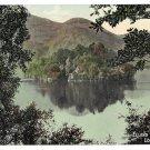 Stirling Scotland Loch Katrine Ellens Isle Trossachs Vntg Valentine's Postcard