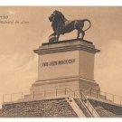 Belgium Waterloo Lions Mound Piedestal du Lion Dr Trenkler Co Postcard