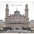 Paris France Le Trocadero Vintage Postcard