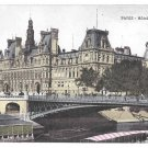 France Paris Hotel de Ville City Hall Vintage Postcard
