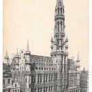 Bruxelles Hotel de Ville Brussels City Hall Belgium Vintage Postcard