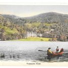 Scotland Trossachs Hotel Stirlingshire View from Loch Rowboat Vintage Postcard