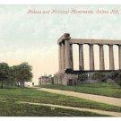 Scotland Edinburgh Nelson and National Monuments Calton Hill Vintage Valentine Series Postcard