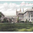 UK Oxford New College from Gardens Vintage Valentine Series ca 1908 Postcard
