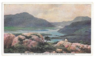 Prudential Insurance Co Ireland Killarney Lakes County Kerry Advertising Postcard