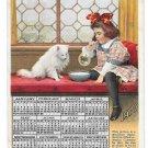 Prudential Insurance Co 1910 Calendar Advertising Postcard