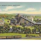 Anthracite Coal Mining Region of Pennsylvania Vintage Linen Postcard Mebane MS 7