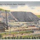 Anthracite Coal Mining Region of Pennsylvania Vintage Linen Postcard Mebane MS 11