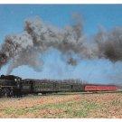 New Hope Steam Railway Train Locomotive 40 Six Car Train Railroad Postcard