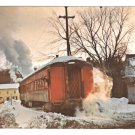 New Hope Ivyland Railway Winter Bucks County PA Railroad Train Postcard RR