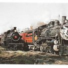 Trains New Hope Ivyland Railroad No 1533 No 40 Railway Steam Locomotives Postcard