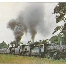 Green Mountain Railroad Locomotives 15 653 & 1246 Triplehead Train Postcard