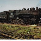 Pennsylvania Railroad PRR Locomotive 7299 H Class 2-8-0 Train Postcard