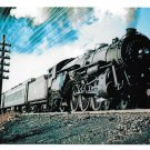 Jersey Central Railroad Baldwin 4-6-2 Pacific Locomotive 821 Train Postcard RR