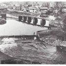 PA Lackawaxen Tow Path Bridge Wayne County Historical Society Postcard