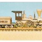 Railroad Wooden Model Train Locomotive The Nashville 4-4-0 CC&C RR Postcard
