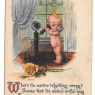 Vintage Kewpie Postcard Gartner & Bender Kewpie Talking on Telephone Yellow Rose