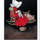 Sunbonnet Girl Wednesday Days of the Week Sewing Vintage Ullman Postcard