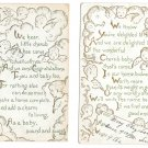 Gilded Cherubs Birth Announcement Congratulations Lot of 2 Vintage Sandford Postcards