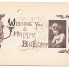 Happy Birthday Art Nouveau Vintage Majestic Publ Sepia Series 1911 Postcard