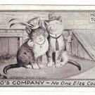Anthropomorphic Dressed Cats Two's Company No One Else Counts Vintage 1910 F Blum F&W Postcard