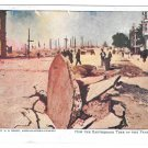 San Francisco Earthquake Tore Up the Pavements Hearst American Journal Postcard