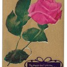 Motto Postcard Flowers Pink Rose Gold 1909 The Pleasure I Wish Thee
