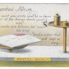 Motto Poem Postcard Please Write Postal Scale Vintage 1918