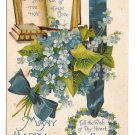 Language of Flowers Forget me not True Love BB London Birn Brothers Postcard