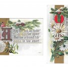 Friendship Set of 2 Motto Postcards Illuminated Letters Embossed Gold Trim