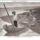 Art Poor Fisherman Pauvre Pecheur Puvis de Chavannes Luxembourg Museum Postcard