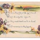 Kathryn Elliott Motto Pansys Black Eyed Susans 1916 Postcard Arts and Crafts