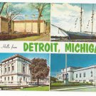 MI Detroit Greetings Hello From Multiview 4 Sites Vintage Postcard