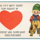 Vintage Samson Bros Postcard Dutch Kids Boy Patched Pants For Vyy Not? Rent Vun Heart