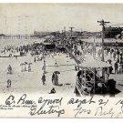 Asbury Park NJ 1904 Beach Boardwalk from the Arcade J Murray Jordan UDB Postcard