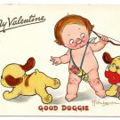 Tuck Valentine Postcard Drayton Wiederseim Good Doggie Cupid Boy Puppies Hearts