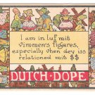 Dutch Dope I am in Luf mit vimmens figares Vintage Comic Postcard Samson Bros