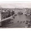Italy Venezia Ponte di Rialto Gondola Canal Bridge Vtg 4X6 RPPC Veneto Postcard