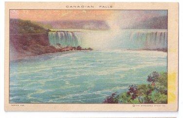 Shredded Wheat Advertising Canadian Falls Niagara Falls NY Vintage Postcard