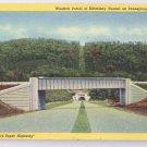 PA Turnpike Kittatinny Tunnel Linen 1940 Curteich Postcard