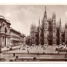 Italy RPPC Milano Piazza Del Duomo Cathedral Real Photo Postcard Milan 1936