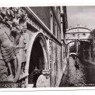 RPPC Venezia Ponte Sospiri Italy Bridge of Sighs Gondola 1938 Bromostampa Torino