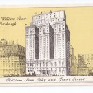 Hotel William Penn Statler Hotels Pittsburgh PA 1943  Advertising Postcard