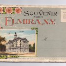 Elmira NY Vintage New York Souvenir Postcard Folder Rubin Bros. 24 Views