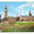 London England Parliament Square Big Ben 1970's  Vintage Frys Postcard 4X6